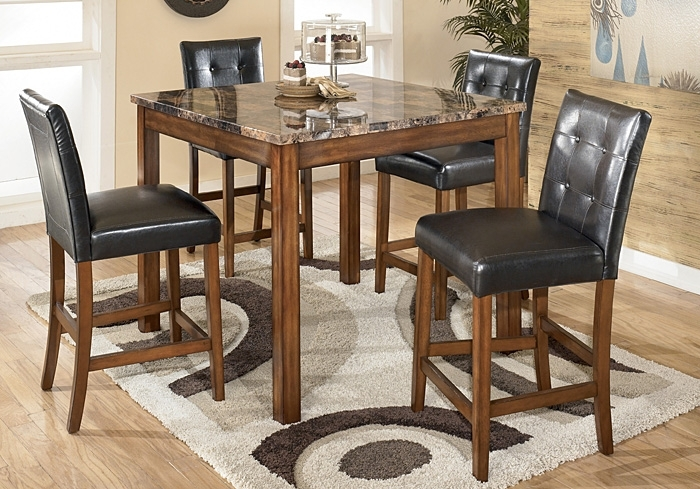 Langlois Furniture – Muskegon, Mi Theo 5 Piece Counter Height Dining Set With Regard To Jaxon 5 Piece Extension Counter Sets With Fabric Stools (Image 17 of 25)