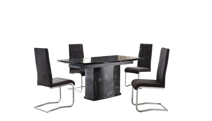 Lanza Extending Dining Table & 4 Lanza Chairs – Scs Regarding Scs Dining Tables (Image 9 of 25)