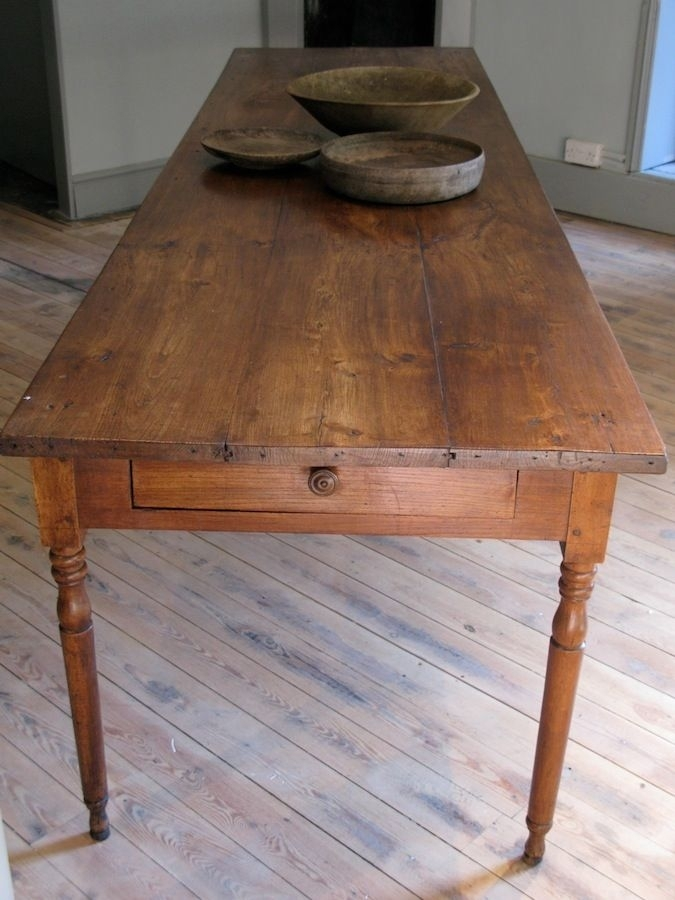 Large 19Th Cent French Farmhouse Antique Dining Table In Elm – Like In French Farmhouse Dining Tables (Image 18 of 25)