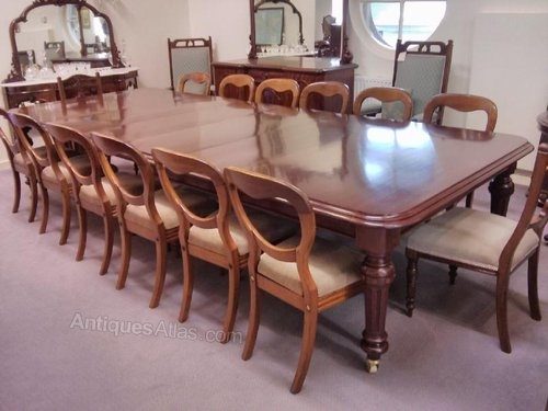 Large 19Thc Mahogany Extending Dining Table – Antiques Atlas Throughout Mahogany Extending Dining Tables (Image 11 of 25)