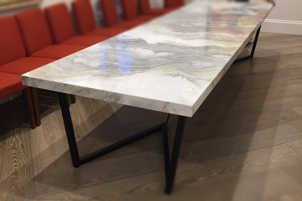 Large 8 Seater Marble Dining Table | Sydney Design World Within Monaco Dining Tables (Image 11 of 25)