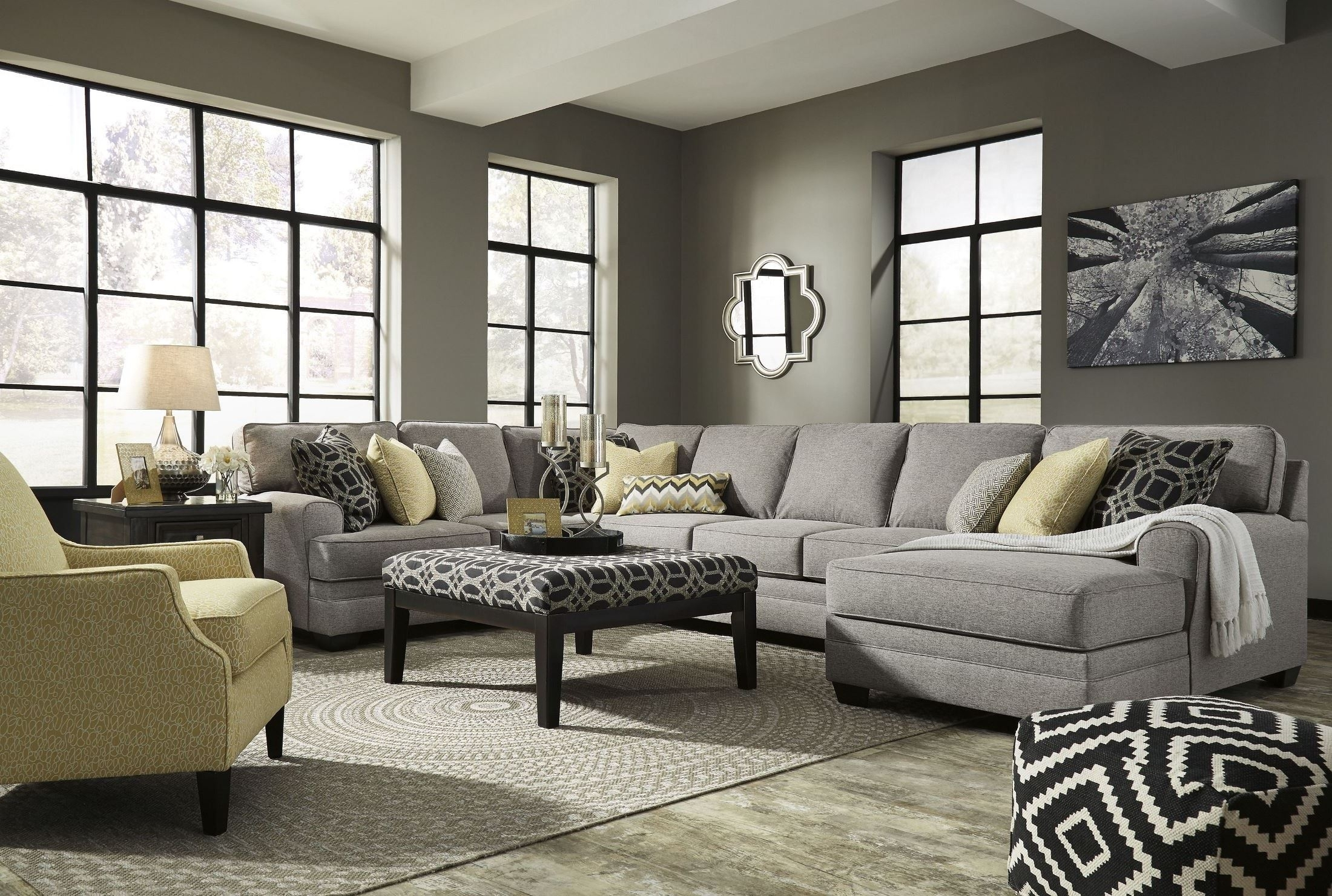 Large Chaise Sofas | Baci Living Room For Delano 2 Piece Sectionals With Raf Oversized Chaise (Image 19 of 25)