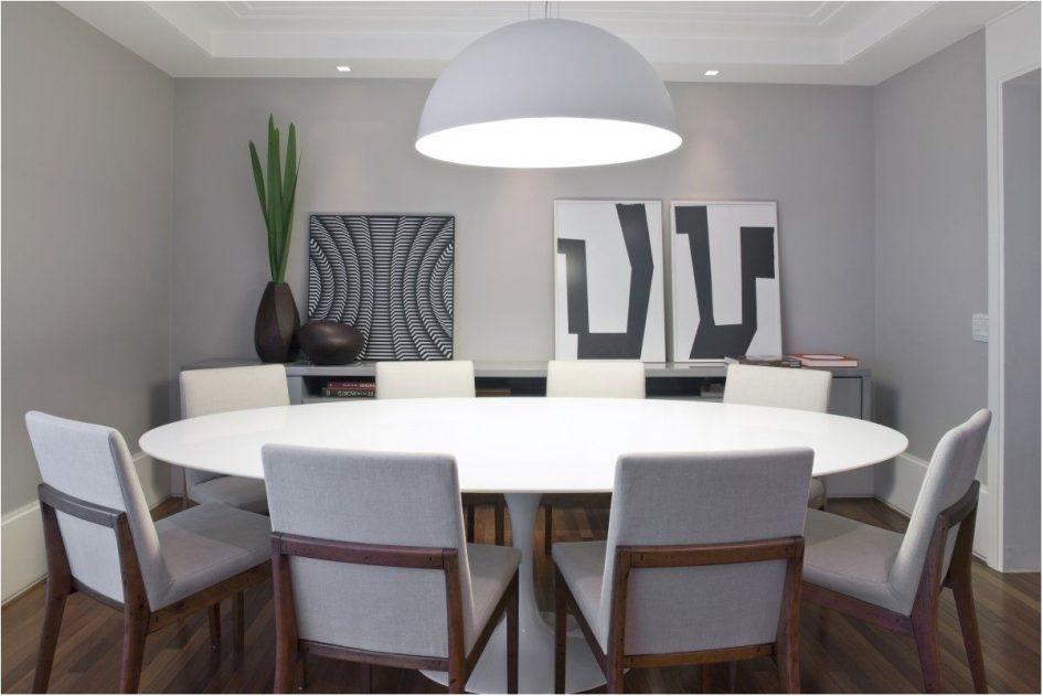 Large Circular Dining Table Round Dining Table With Chairs Glass And Regarding Large White Round Dining Tables (View 8 of 25)