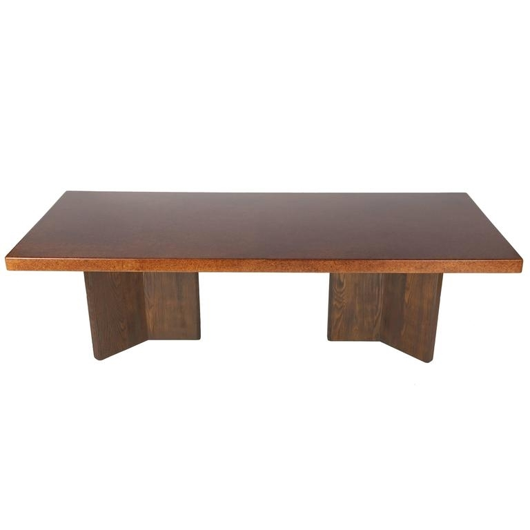 Large Cork Top Dining Tablepaul Frankl For Johnson Furniture Within Cork Dining Tables (Image 15 of 25)