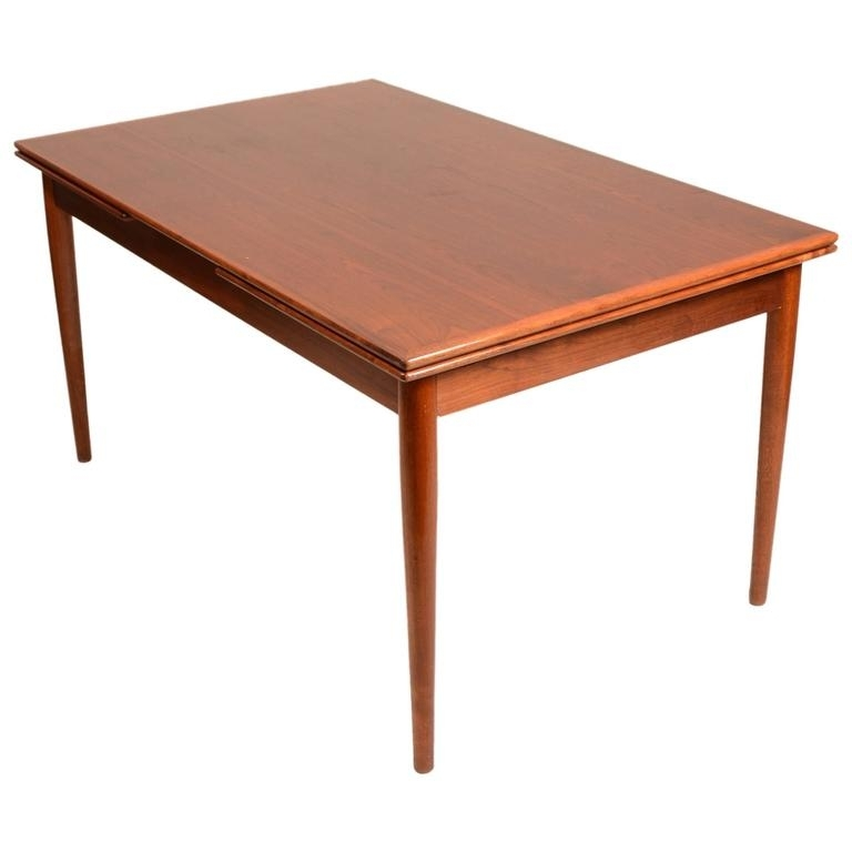 Large Danish Modern Draw Leaf Dining Table In Teak For Sale At 1Stdibs Intended For Danish Dining Tables (Image 19 of 25)