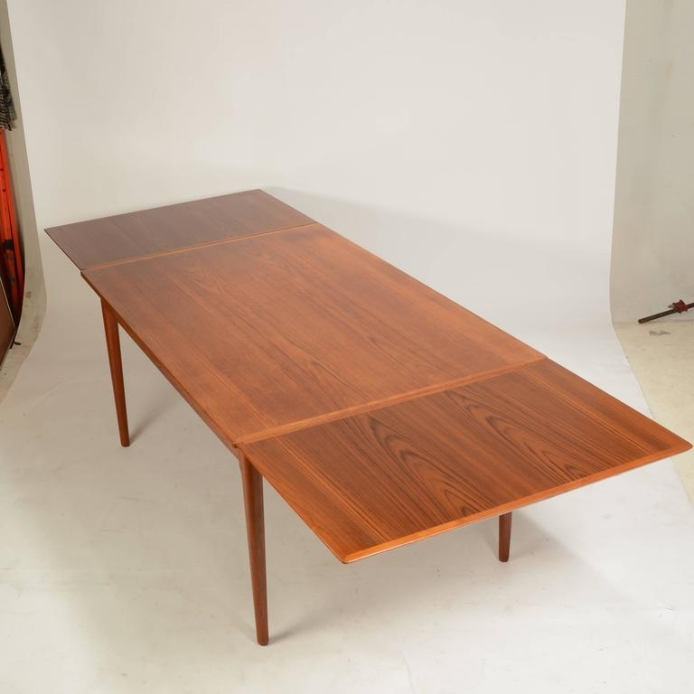 Large Danish Modern Teak Dining Tablel&f Mobler For Sale At 1Stdibs Within Danish Dining Tables (Image 20 of 25)