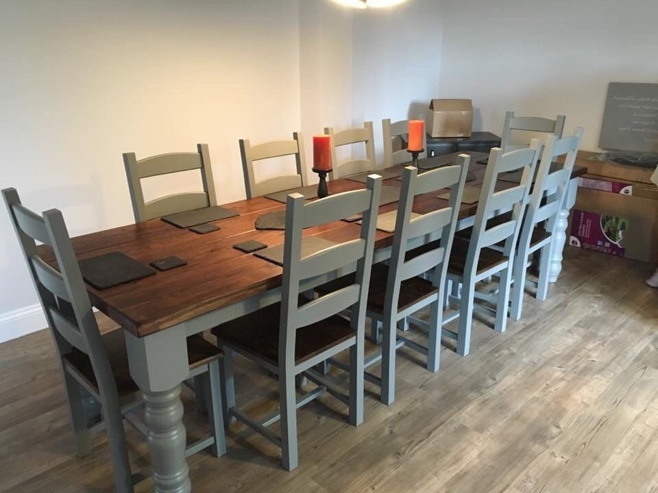Large Dining Room Tables Seats 12 Beautiful Amazing 10 Seater Within Extending Dining Table With 10 Seats (Image 16 of 25)