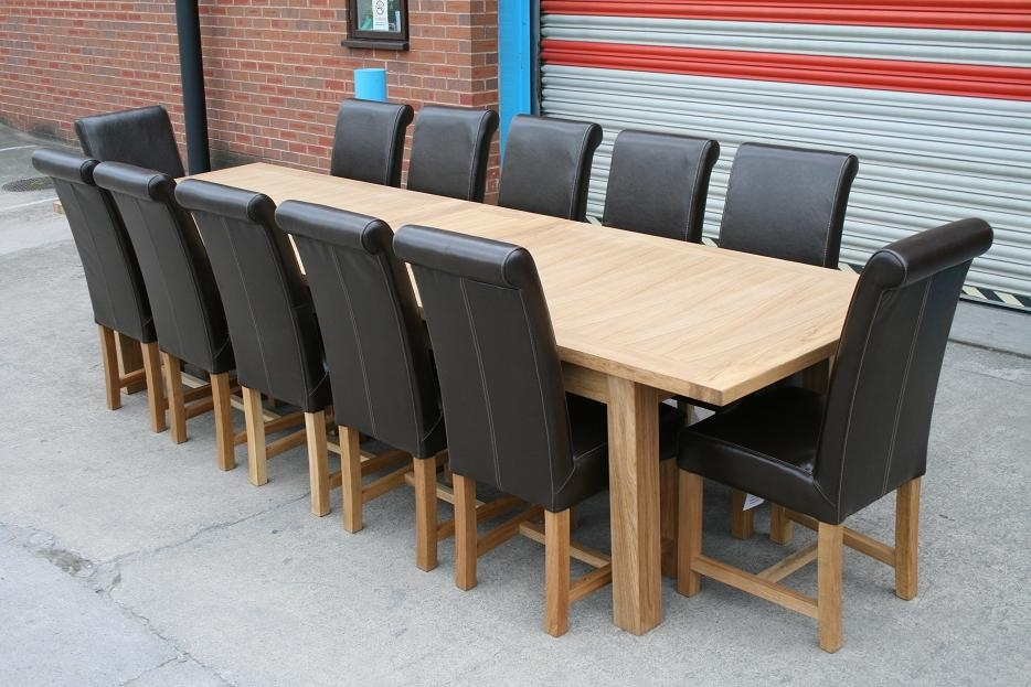 Large Dining Table| Seats 10, 12, 14, 16 People | Huge Big Tables In Extending Dining Table With 10 Seats (View 2 of 25)