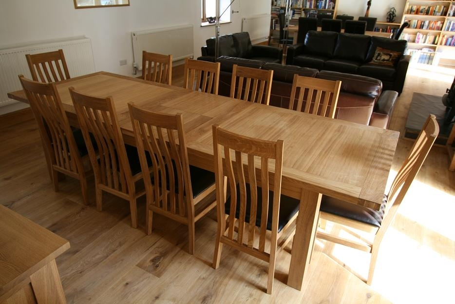 Large Dining Table| Seats 10, 12, 14, 16 People | Huge Big Tables Pertaining To 8 Seater Oak Dining Tables (View 20 of 25)