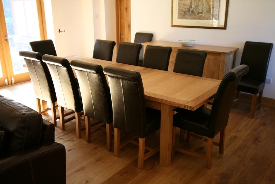 Large Dining Table| Seats 10, 12, 14, 16 People | Huge Big Tables With 10 Seat Dining Tables And Chairs (View 4 of 25)