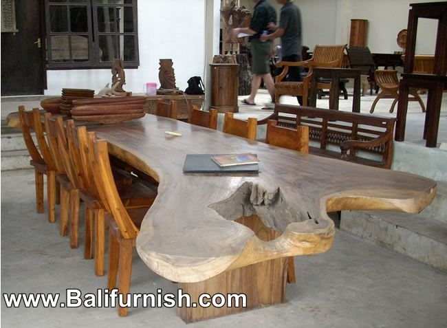 Large Dining Table Teak Wood Furniture From Bali Indonesia Outdoor In Balinese Dining Tables (Image 18 of 25)