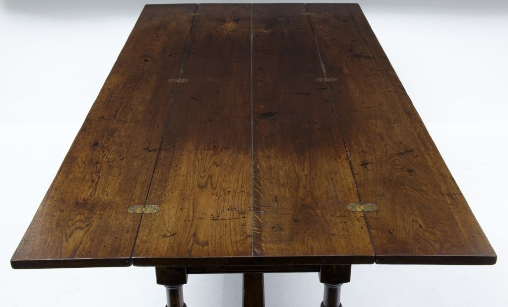 Large English Made Oak Flip Top Dining Table At 1Stdibs With Regard To Flip Top Oak Dining Tables (Image 15 of 25)
