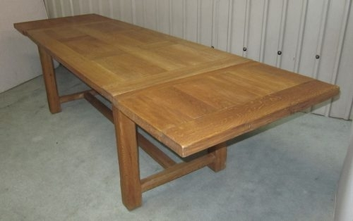 Large French Extending Oak Dining Table – Antiques Atlas Within French Extending Dining Tables (View 7 of 25)