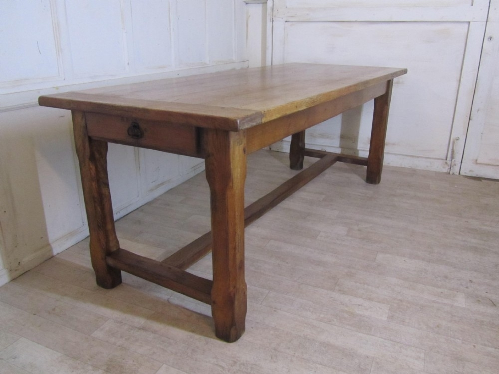 Large French Farmhouse Oak Dining Table From Brittany | 270470 Regarding French Farmhouse Dining Tables (Image 19 of 25)