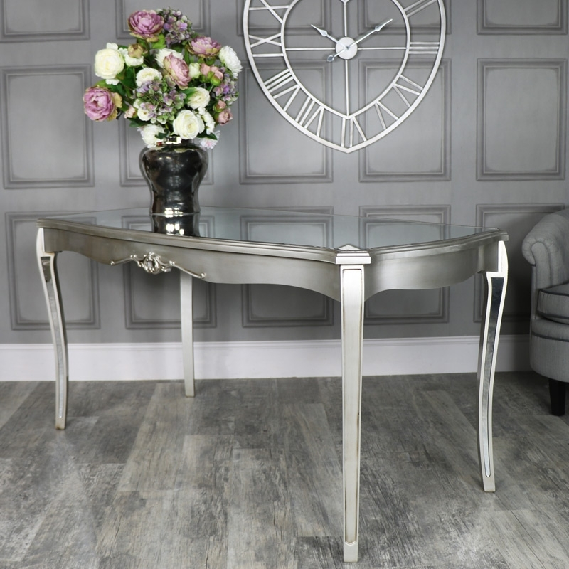 Large Mirrored Dining Table – Tiffany Range – Melody Maison® Inside Mirrored Dining Tables (Image 10 of 25)