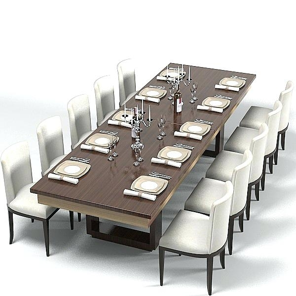 Large Modern Dining Room Tables Contemporary Dining Room Set 8 With Regard To Dining Tables Set For  (Image 20 of 25)