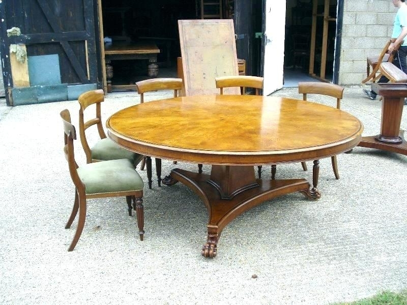 Large Round Dining Room Table Seats 10 – Modern Computer Desk Intended For Huge Round Dining Tables (Image 14 of 25)