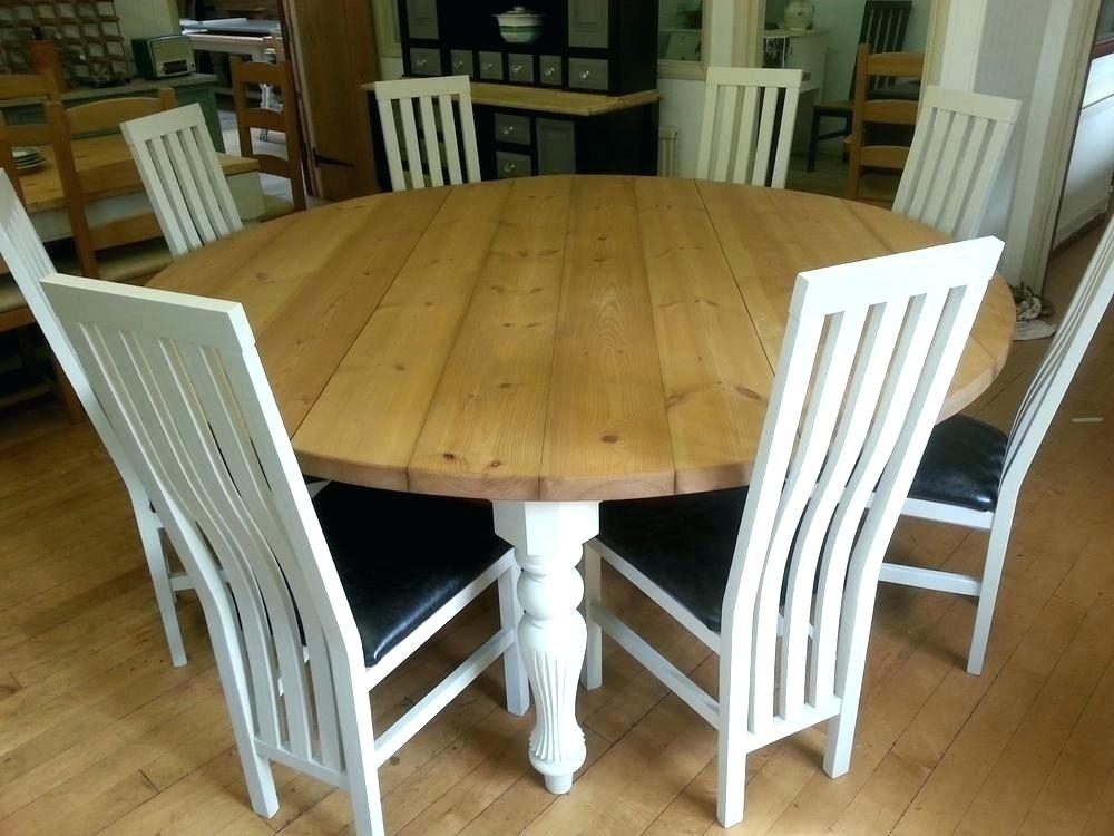 Large Round Dining Table Seats 6 – Futboldesafio (Image 15 of 25)