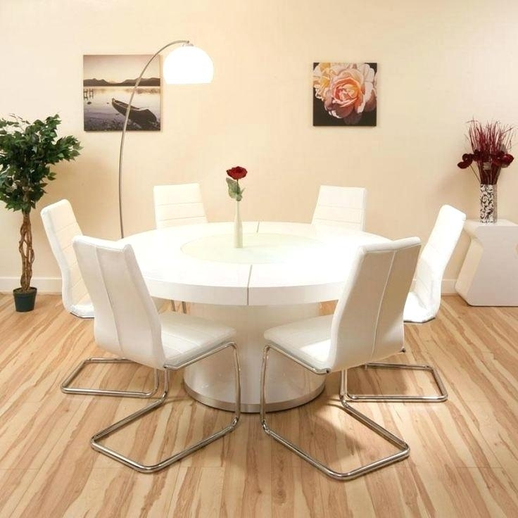 Large Round Dining Table Seats 6 Round Dining Table Fitted Apron Throughout Round 6 Seater Dining Tables (Image 15 of 25)