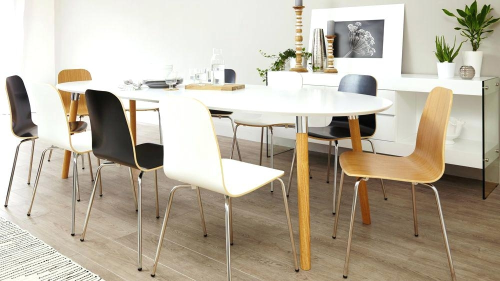Large Round Extending Dining Table Walnut Best Extendable Seats 14 Regarding White Round Extending Dining Tables (Image 11 of 25)