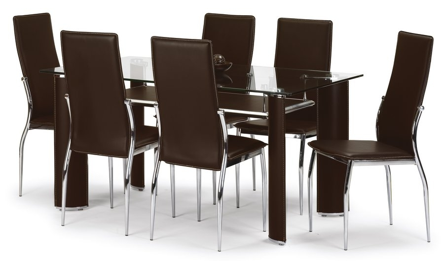 Large Round Glass Dining Table 6 Chairs 2018 White Dining Table Inside Black Glass Dining Tables 6 Chairs (View 12 of 25)