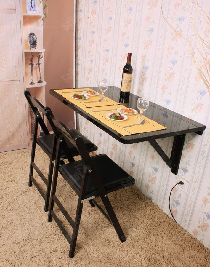 Large Size Wall Mounted Drop Leaf Table …   Wall Mounted Desks   Pinte… For Large Folding Dining Tables (Image 15 of 25)