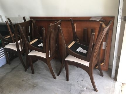 Large Solid 7 Piece Dining Set | Dining Tables | Gumtree Australia In Logan 7 Piece Dining Sets (View 25 of 25)