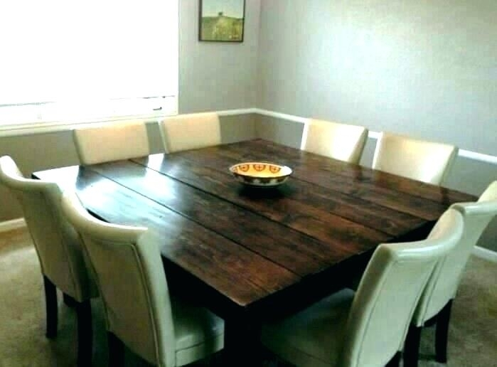 Large Square Dining Table – Happyfuel With Dining Tables Seats  (Image 15 of 25)