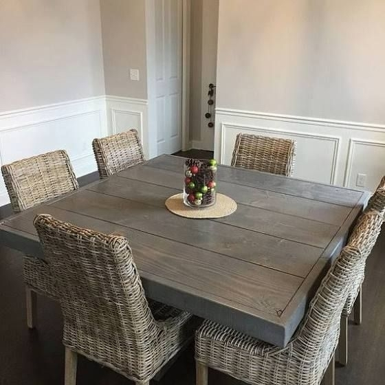 Large Square Dining Table Seats 8 | Farmhouse Table | Pinterest In Dining Tables Seats  (Image 16 of 25)