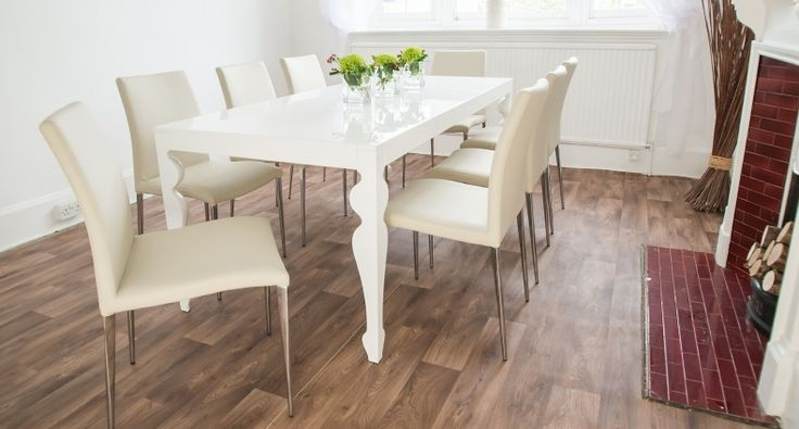 Large White Dining Table | Shapeyourminds Intended For Large White Gloss Dining Tables (View 21 of 25)