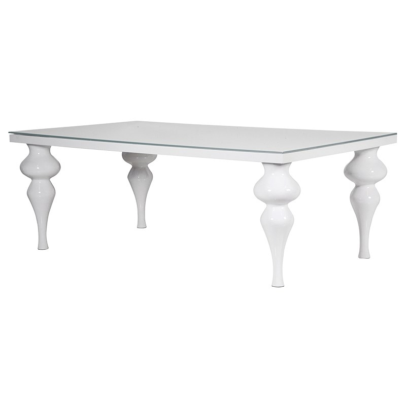 Large White High Gloss Dining Table | Living Rooms Direct With White Gloss Dining Furniture (View 16 of 25)