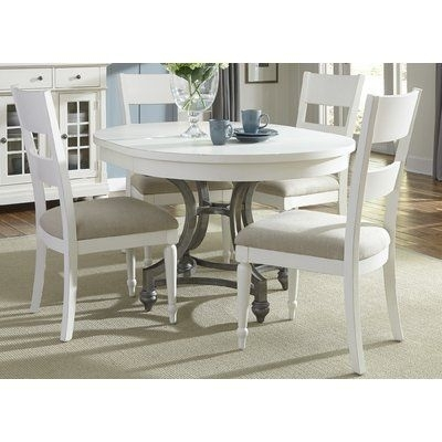 Lark Manor Bleau 5 Piece Extendable Dining Set In 2018 | Products Throughout Kirsten 6 Piece Dining Sets (Image 21 of 25)