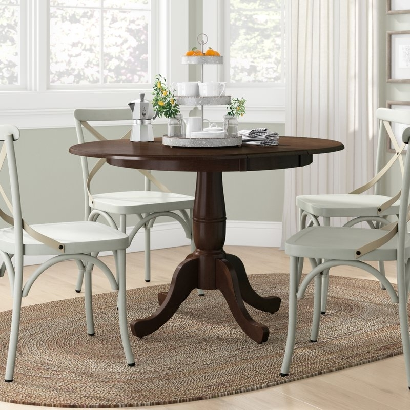 Lark Manor Overbay Extendable Dining Table & Reviews | Wayfair Within Extendable Dining Tables (Image 19 of 25)