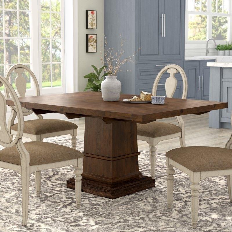 Lark Manor Parfondeval Extendable Dining Table & Reviews | Wayfair With Regard To Amos 6 Piece Extension Dining Sets (Image 18 of 25)