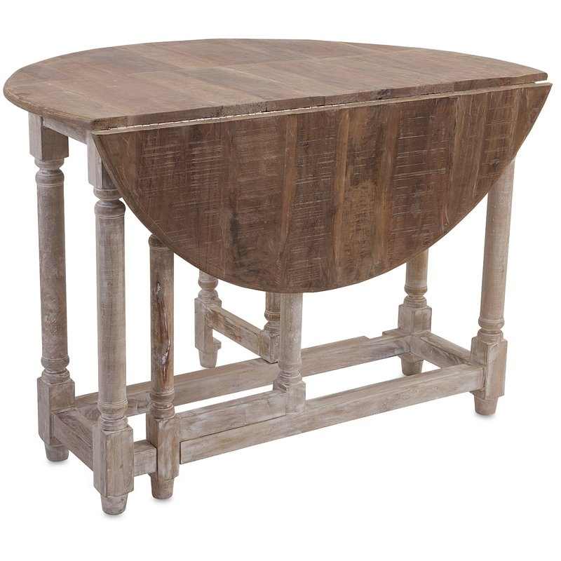 Larue Drop Leaf Extendable Dining Table & Reviews | Birch Lane Within Drop Leaf Extendable Dining Tables (View 14 of 25)