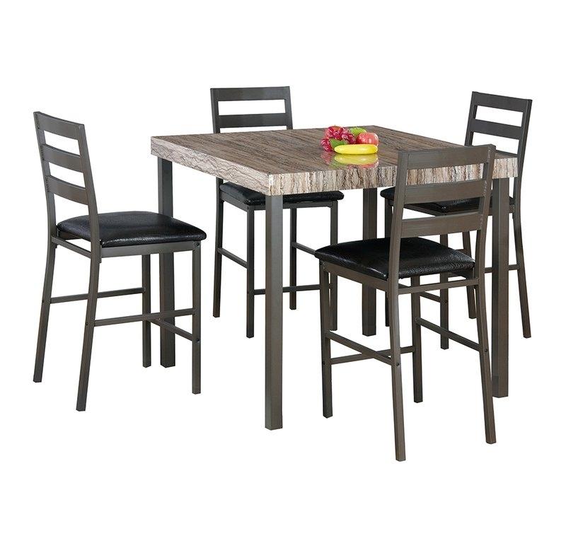 Latitude Run Cora 5 Piece Bistro Dining Set | Wayfair throughout Cora 5 Piece Dining Sets
