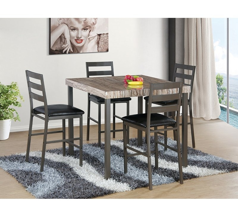 Latitude Run Cora 5 Piece Bistro Dining Set | Wayfair Within Cora Dining Tables (Image 19 of 25)