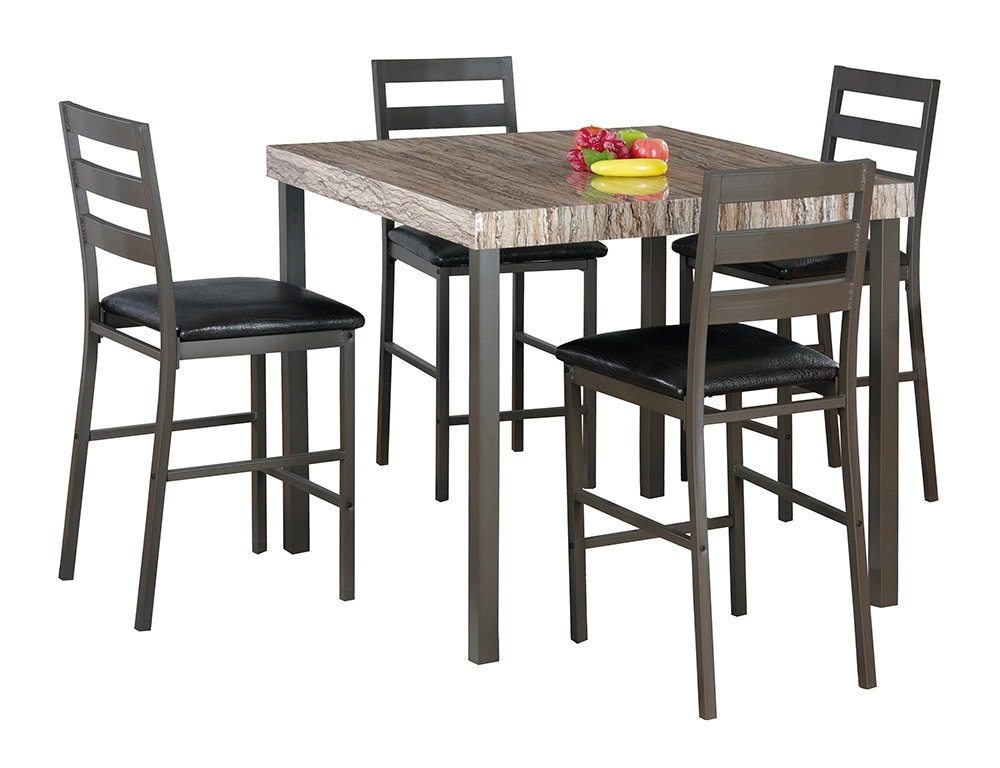 Latitude Run Cora 5 Piece Dining Set & Reviews | Wayfair Intended For Candice Ii 5 Piece Round Dining Sets (Image 17 of 25)