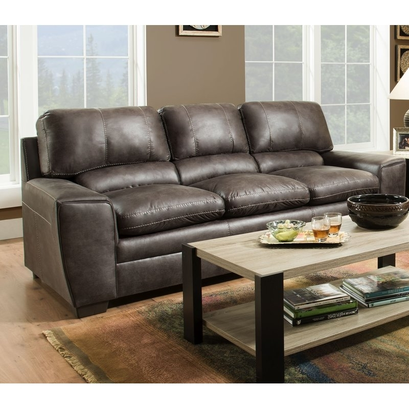 Latitude Run Simmons Upholstery Grady Sofa | Wayfair For Grady Round Dining Tables (Image 14 of 25)