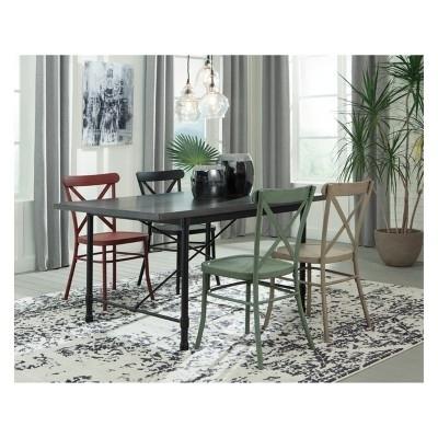 Lätt Bockbord Att Bygga, Rundstav Som Fixerar Planken, Lät For Caira 7 Piece Rectangular Dining Sets With Diamond Back Side Chairs (View 25 of 25)