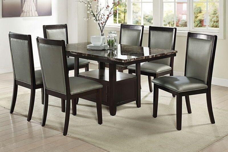 Lätt Bockbord Att Bygga, Rundstav Som Fixerar Planken, Lät Intended For Caira 7 Piece Rectangular Dining Sets With Diamond Back Side Chairs (View 16 of 25)