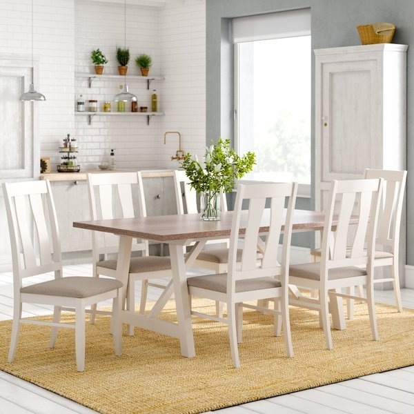 Laurel Foundry Lombardy Dining Table And 6 Chairs & Reviews For Wood Dining Tables And 6 Chairs (Image 15 of 25)