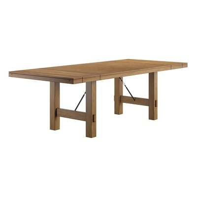 Laurel Foundry Modern Farmhouse Beachem Extendable Dining Table In For Norwood 7 Piece Rectangle Extension Dining Sets (Image 9 of 25)