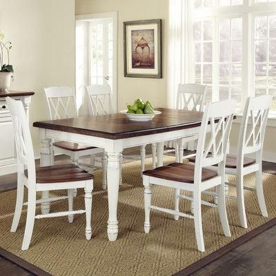 Laurel Foundry Modern Farmhouse Giulia 7 Piece Dining Set Finish Pertaining To Kirsten 5 Piece Dining Sets (Image 19 of 25)