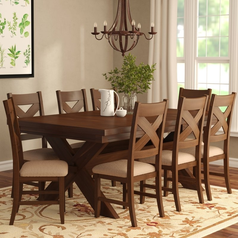 Laurel Foundry Modern Farmhouse Isabell 9 Piece Dining Set & Reviews Within Caden 6 Piece Dining Sets With Upholstered Side Chair (View 25 of 25)