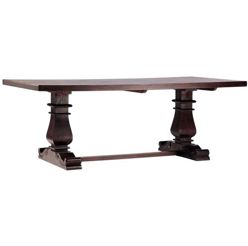 Lauren Dark Wood Trestle Extension Dining Table 120"