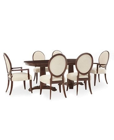 Lauren Ralph Lauren Dining Room Furniture, Mitchell Place 7 Piece Regarding Laurent 7 Piece Rectangle Dining Sets With Wood Chairs (Image 17 of 25)