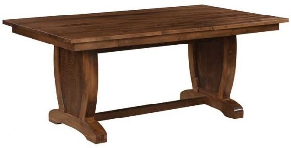Laurent Hardwood Trestle Dining Table – Countryside Amish Furniture In Laurent Rectangle Dining Tables (Image 13 of 25)