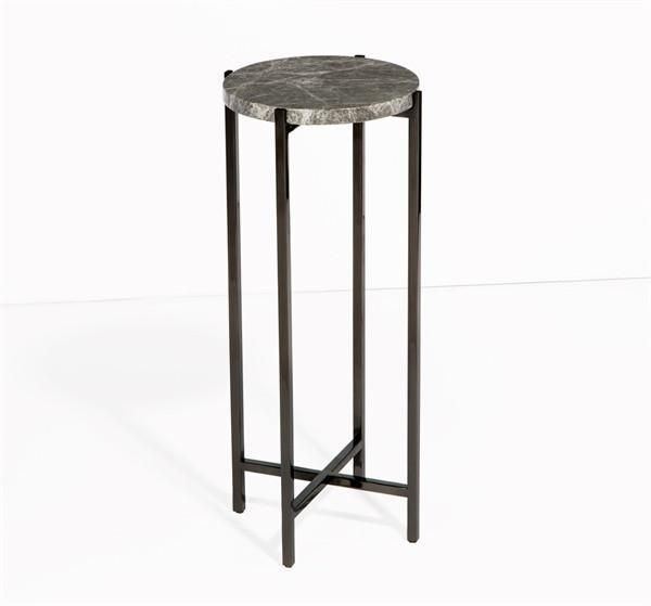 Laurent Round Drink Table In Grey Designinterlude Home On | Pub Regarding Laurent Round Dining Tables (View 21 of 25)