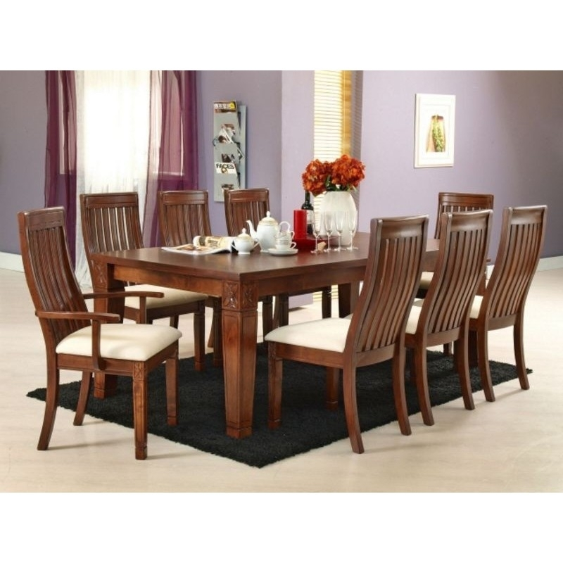Lavender 8 Seater Dining Table | 9 Piece Dining Table Set Intended For 8 Seater Dining Table Sets (Image 23 of 25)